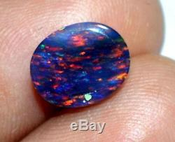 9.00 Ct 100% Natural Ethiopian Blue Fire Multi Color Opal AGSL Certified Gem