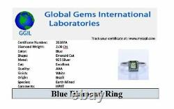 AAA Quality 2Ct Blue Diamond Ring, Certified Earth Mined, Great Shine & Luster