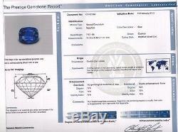 AGL Certified 9.23ct Natural No Heat Sri Lanka Sapphire Diamond Ring Platinum+