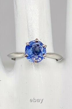 Antique 1920 $7000 2.58ct Mine Cut CERTIFIED Natural BLUE Sapphire Platinum Ring