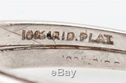 Antique $9000 Natural NO HEAT CERTIFIED Blue Sapphire Diamond Platinum Ring Set