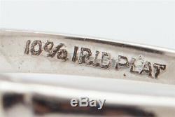Antique CERTIFIED 1ct Natural NO HEAT Blue Purple Sapphire Diamond Platinum Ring