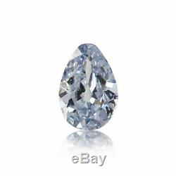 Blue Diamond Beautiful Fancy Color GIA Certified 0.22 Ct Pear Cut Loose Natural