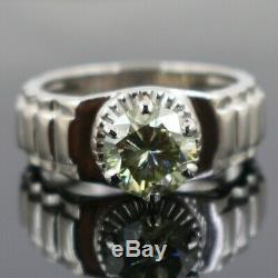 Blue Diamond Ring For Men- Certified 1.85 Ct, Unique Design Full of Fire