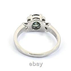 Blue Diamond Solitaire Ring 1.10 ct Certified AAA. 100% Genuine, Great Shine