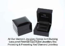 Blue Topaz Earrings Diamond 9 White Gold Certified RRP £245