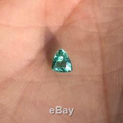 Blue-green 0.18 carat Brazilian paraiba tourmaline, untreated, GIA Certified