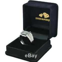 Bold 7.70 ct Blue Diamond Solitaire Ring, AAA Certified. Manly Design. Rare