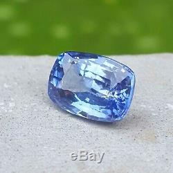 CERTIFIED 2.05 Ct Natural BLUE SAPPHIRE Unheated Untreated Loose Gemstone