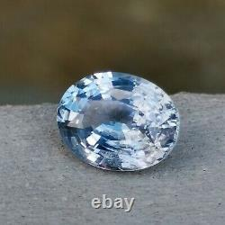 CERTIFIED 2.44 Ct Natural BLUE SAPPHIRE Unheated Untreated Loose Gemstone A2