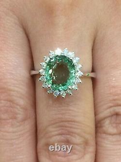 CERTIFIED High Quality 2.62 Ct Paraiba Tourmaline Ring 18K Gold and Diamonds