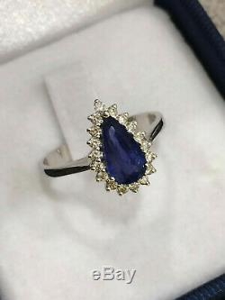 CERTIFIED Natural High Quality KASHMIR Blue Sapphire Ring 18K Gold and Diamonds