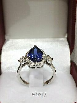 CERTIFIED Very High Quality 3.4 Ct Tanzanite ring 18K Gold and Diamonds