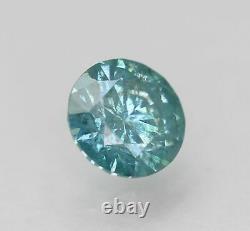 Certified 0.64 Carat Intense Blue SI1 Round Brilliant Natural Diamond 5.54mm