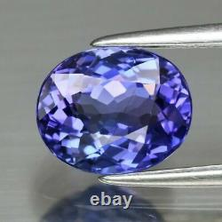 Certified 1.83ct 8x6.6mm VVS Oval Natural Violetish Blue Tanzanite Zoisite #116
