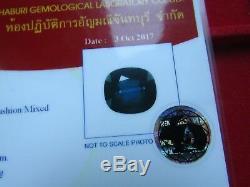 Certified 2.16ct Cushion Cut Blue Transparent Natural Sapphire