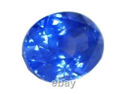 Certified Cornflower Blue Sapphire Oval 1.30 Carats Sri Lanka Natural Gemstone