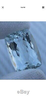 Certified Huge Light Flawless 63.55 Cts Natural Aquamarine For Ring Or Necklace