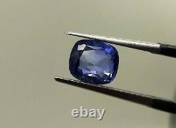 Certified Natural Blue Sapphire 1.75 Ct SI Clarity Cushion Cut Ceylon Gemstone