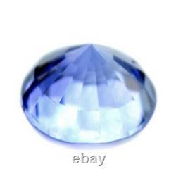 Certified Natural Ceylon Blue Sapphire 0.33ct VVS Clarity 3.9mm Sri Lanka Round