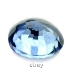 Certified Natural Ceylon Blue Sapphire 0.38ct VVS Clarity 4.3mm Sri Lanka Round