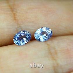 Certified Natural Ceylon Blue Sapphire 0.67ct VVS Clarity Oval Matching Pair