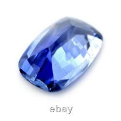 Certified Natural Ceylon Blue Sapphire 1.17ct VS Clarity Sri Lanka Cushion