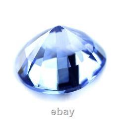 Certified Natural Ceylon Blue Sapphire 1.27ct VVS Clarity 6.40mm Round Sri Lanka