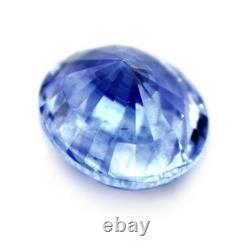Certified Natural Ceylon Blue Sapphire 1.37ct SI Clarity Sri Lanka Oval Gem