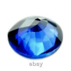 Certified Natural Ceylon Cornflower Blue Sapphire VVS Sri Lanka 4.3x3.7 mm Oval