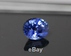 Certified Natural Gem Stone Ceylon Sky Blue Sapphire 1.77ct Oval Loose Gemstone