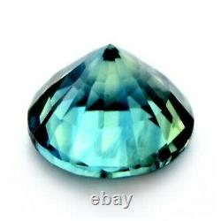 Certified Natural Teal Sapphire 0.54ct VVS Clarity 4.6mm Madagascar Round