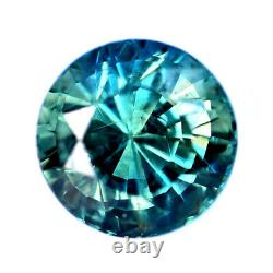 Certified Natural Teal Sapphire 0.55ct VS Clarity Madagascar 4.3mm Round