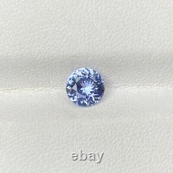Certified Natural Unheated Blue Sapphire 1.15 Cts Round Cut Loose Gemstone