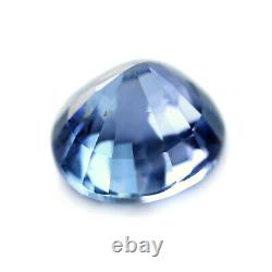 Certified Natural Unheated Ceylon Blue Sapphire 1.27ct VS Clarity 6.12mm Round