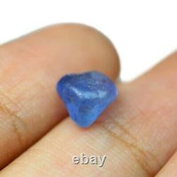 Certified Natural Unheated Ceylon Blue Sapphire 2.15ct VS Sri Lanka Rough 6x6mm