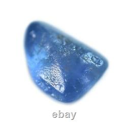 Certified Natural Unheated Ceylon Blue Sapphire 3.06ct SI Clarity Rough 8.7x7 mm