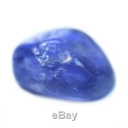 Certified Natural Unheated Ceylon Purplish Blue Sapphire 3.31ct Sri Lanka Rough