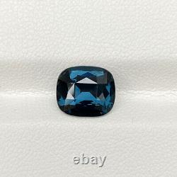 Certified Natural Unheated Cobalt Blue Spinel 2.81 Ct Cushion Cut Loose Gemstone