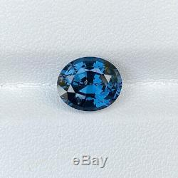 Certified Natural Unheated Cobalt Blue Spinel 3.53 Cts Oval Cut Loose Gemstone