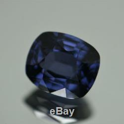Certified Natural Unheated Cobalt Spinel 3.76 Cts VVS Cushion Loose Gemstone