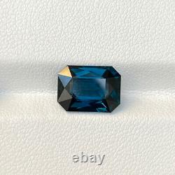 Certified Natural Unheated Cobalt Spinel 4.33 Cts Octagon Cut Loose Gemstone