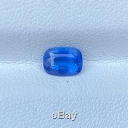 Certified Natural Unheated Cornflower Blue Sapphire 1.07 Cts Cushion Gemstone