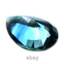 Certified Natural Unheated Flawless Blue Sapphire 0.68ct IF Clarity Pear 6x4mm