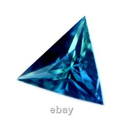 Certified Natural Unheated Teal Sapphire 0.53ct VS Clarity Madagascar Triangle