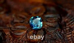 Certified Natural Unheated Teal Sapphire 0.55ct VS Clarity Madagascar Cushion