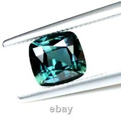 Certified Natural Unheated Teal Sapphire 0.57ct VVS Clarity Madagascar Cushion