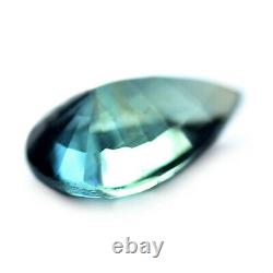 Certified Natural Unheated Teal Sapphire 0.59ct VVS Clarity Madagascar Pear