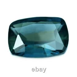 Certified Natural Unheated Teal Sapphire 0.71ct VVS Clarity Madagascar Cushion