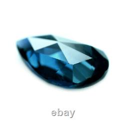 Certified Natural Unheated Teal Sapphire 0.83ct VS Clarity Rose Cut Pear 7.8x5mm